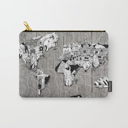 world map vintage Carry-All Pouch