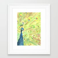 peacock Framed Art Prints featuring Peacock by Annie Mason