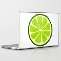 lime Laptop & iPad Skins featuring Lime by Linde Townsend