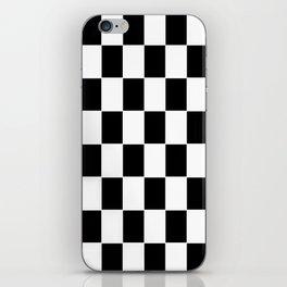Checkerboard pattern iPhone Skin
