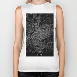Taipei Black Map Biker Tank