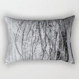 Icicles, No. 1 bw Rectangular Pillow