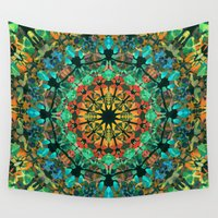 kaleidoscope Wall Tapestries featuring Kaleidoscope by Klara Acel