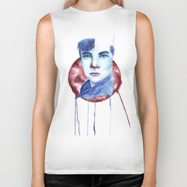 Cold-Blooded Watercolor Painting Biker Tank