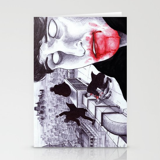 """Modern Vampires of the City"" by Cap Blackard Stationery Cards"