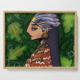 mayan girl Serving Tray
