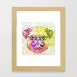 abstract pug puppy  Framed Art Print