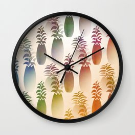 Pineapple Abstract Wall Clock