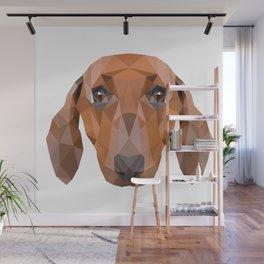 Dachshund Dog Wall Mural