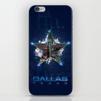 dallas iPhone & iPod Skins featuring Dallas by AdrianFlores