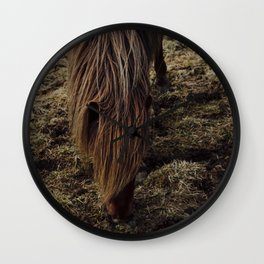 Horses in Iceland Wall Clock
