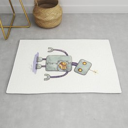 Robot With A Heart Rug
