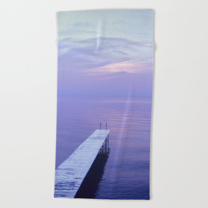 Long Dock Coastal Potography Beach Towel