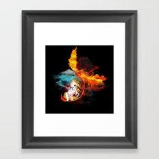 EPIC BATTLE OF COLORS Framed Art Print