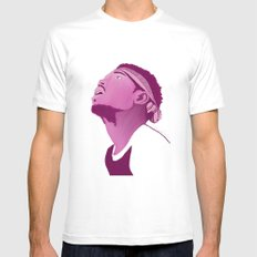 Chance The Rapper; Pink White Mens Fitted Tee MEDIUM