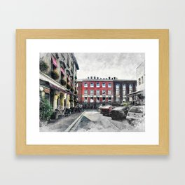 Cracow art 4 Kazimierz #cracow #krakow #city Framed Art Print