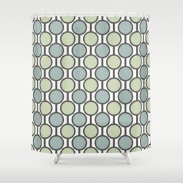Retro-Delight - Simple Circles - Mint Shower Curtain