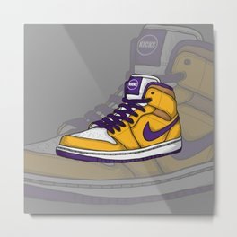 J1-Lakers Metal Print