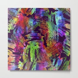 Rainbow cool brush Metal Print