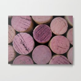 Red Wine Corks 4 Metal Print