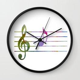 Musical Note A Wall Clock