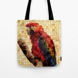 Parrot Mosaic Tote Bag