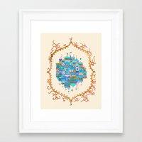 casablanca Framed Art Prints featuring Casablanca by Nargol Arefi