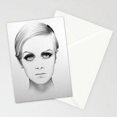 Twiggy Minimal Portrait Stationery Cards