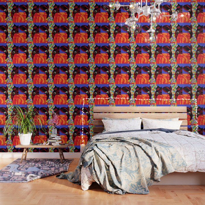 Calico Cow Wallpaper