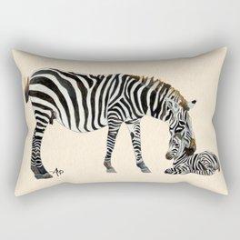 Plains Zebras Watercolor Rectangular Pillow