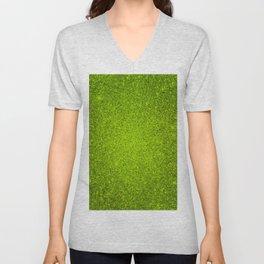 Peridot Green Sparkling Jewels Pattern Unisex V-Neck