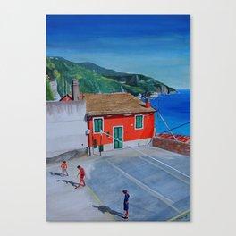 Italian village basketball Canvas Print