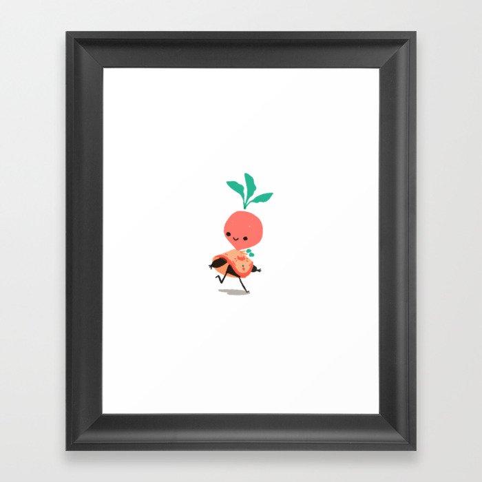 Adventurer Raphanus Framed Art Print