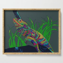 Colorful Lizard Serving Tray
