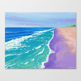 the view from up here on jennette's pier Canvas Print
