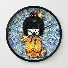Horror Vacui - Kokeshi01 Wall Clock