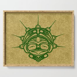 Grass Frog Sand Serving Tray