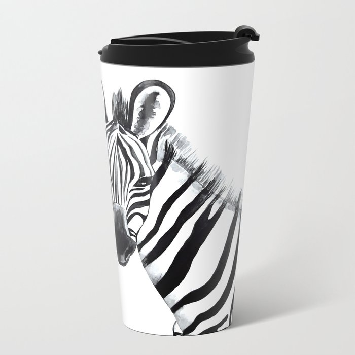 Zebra, animal Metal Travel Mug
