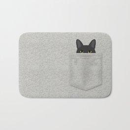 Pocket Black Cat Bath Mat