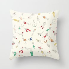 Bowies Throw Pillow