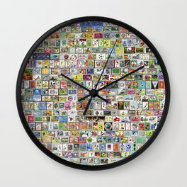 Soccer Stamps Wall Clock