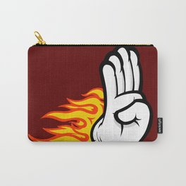 Flaming Palm Carry-All Pouch