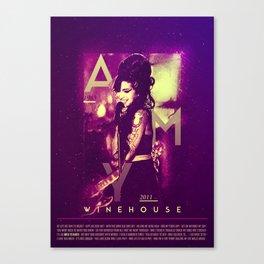 AMY WINE HOUSE BACK TO BLACK LYRIC Canvas Print
