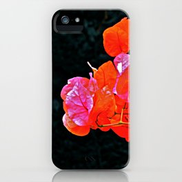 Contrasting flowers iPhone Case