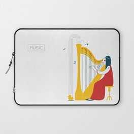 Woman harpist Laptop Sleeve