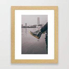 kicks overseas Framed Art Print