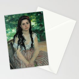 "Auguste Renoir ""En été - La bohémienne (In summer - Gypsy woman)"" Stationery Cards"