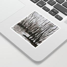 Brent skog - Gerlinde Streit Sticker