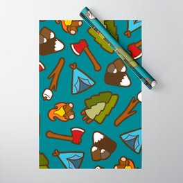 Camping is Cool Pattern Wrapping Paper