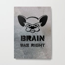Getting Political Metal Print